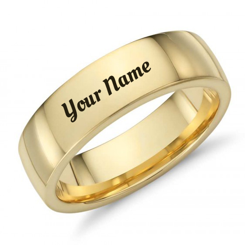 Gold Band Mens Nice Wedding Ring With Your Name
