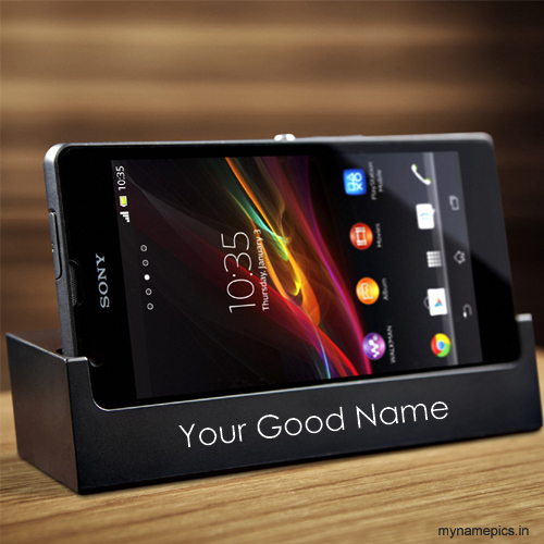 Write name on mobile case profile picture