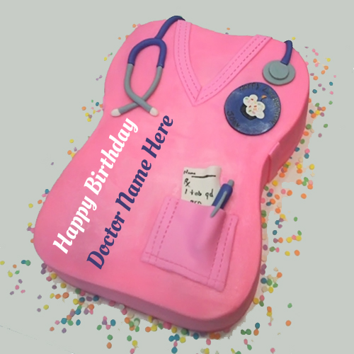 Happy Birthday Nurse Scrub Cake With Your Name