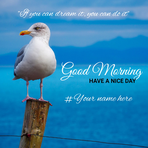 Inspirational Morning Whatsapp Greeting Card With Name