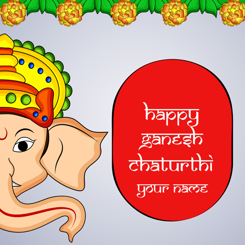 Happy Ganesh Chaturthi Wishes Whastapp Status With Name