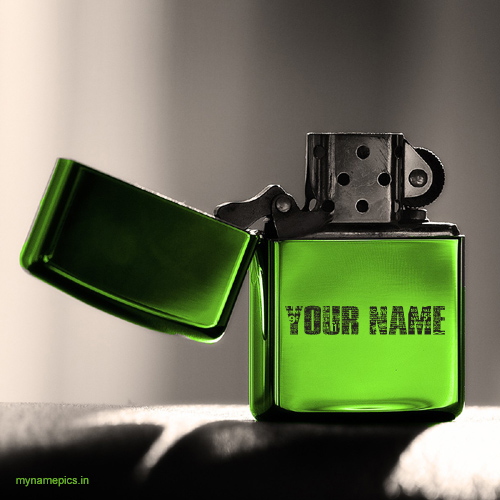 Write name on zippo lighter profile picture