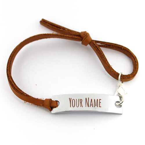 Leather Friendship Best Friends Bracelet With Your Name