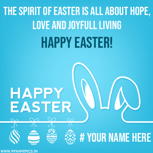 Happy Easter Celebration Quote Greeting With Name