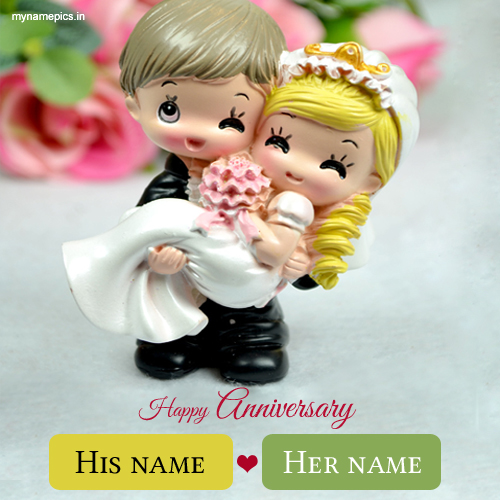 write name on anniversary wishes cute couple profile pi