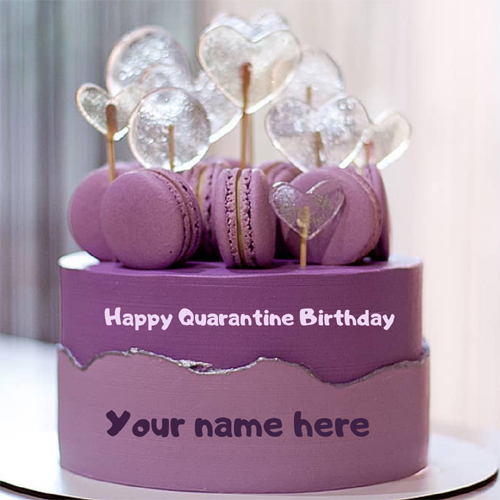 Quarantine Birthday Cake With name