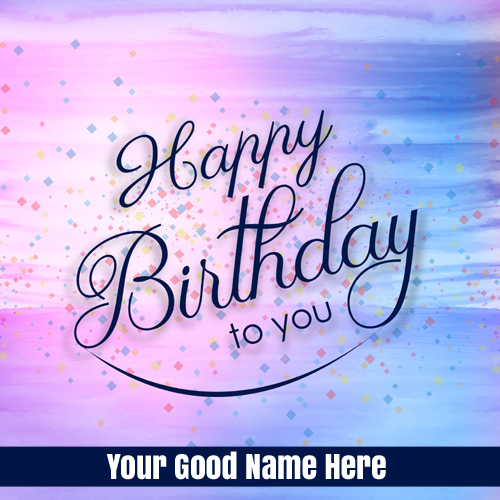 Write Name on Birthday Card With Colorful Watercolors