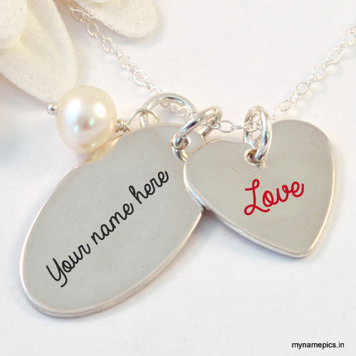 Write your name on silver Pendant profile picture.