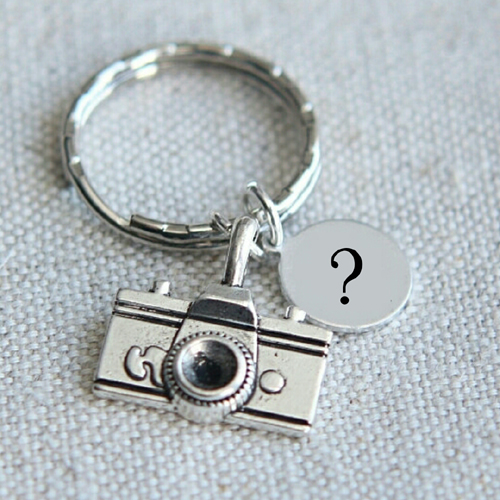 Handmade Vintage Silver Keychain With Name Alphabet