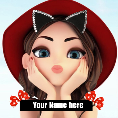 Write Name on Beautiful Doll Pics For Whatsapp Status