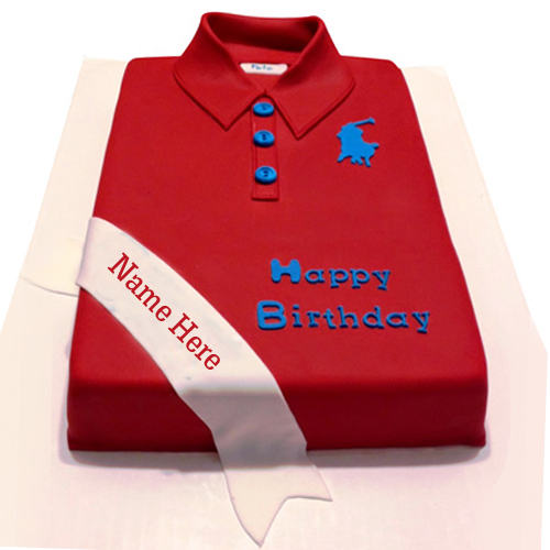 Write Name on Tshirt Birthday Cake For Brother