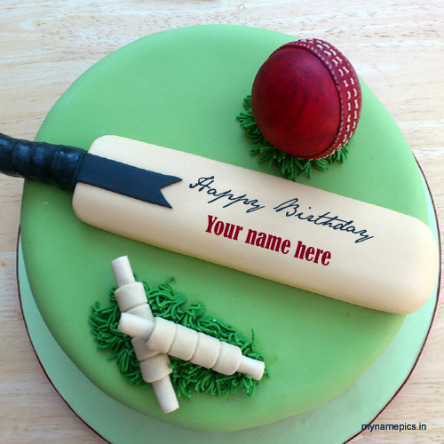 Birthday Cake For Cricket Fans