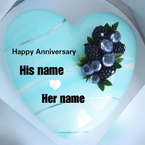 Wish Happy Anniversary By Customized Anniversary Card