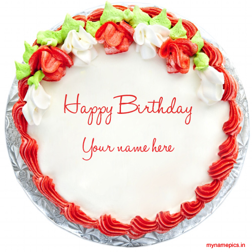 Write your name on birthday cake online and wish your f