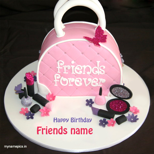 write name on birthday wishes cake for best friend .