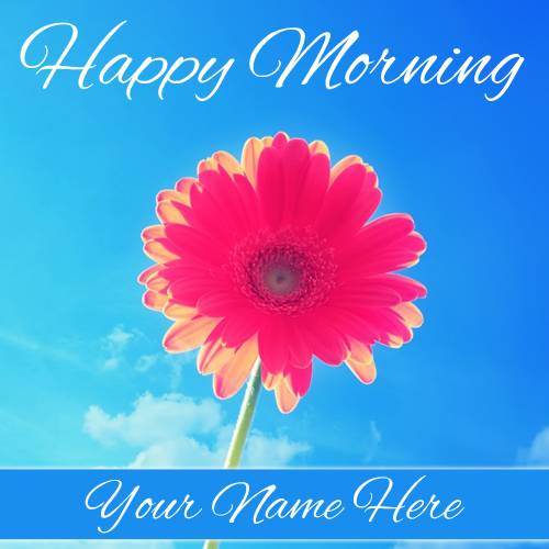 Write Name on Happy Morning Wishes Beautiful Greeting