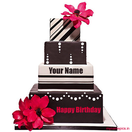 write name on Birthday cake for lover online
