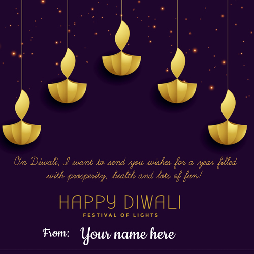Happy Diwali Celebration Whatsapp Status Pics With Name