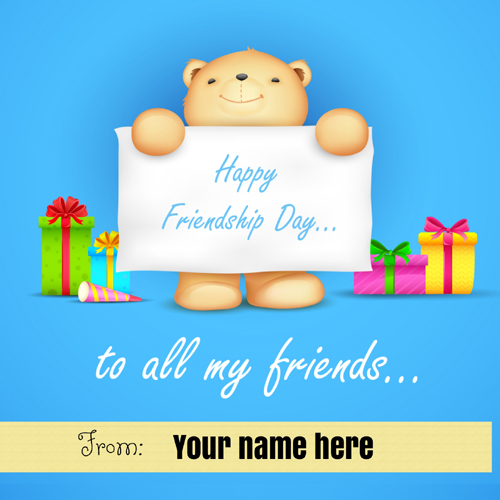 Happy Friendship Day To My Friends DP Pics With Name