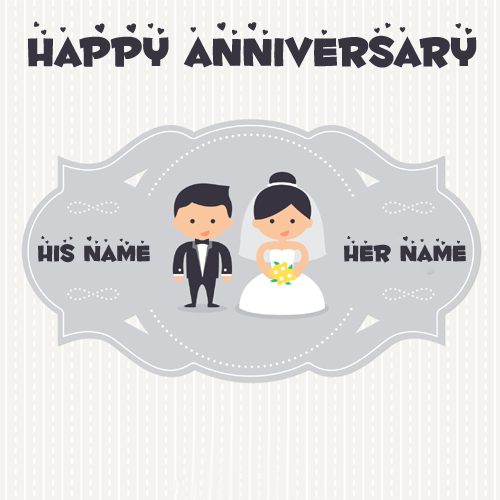 Happy Wedding Anniversary Couple Profile Pics With Name