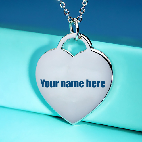 Personalized Heart Shape Silver Love Pendant With Name