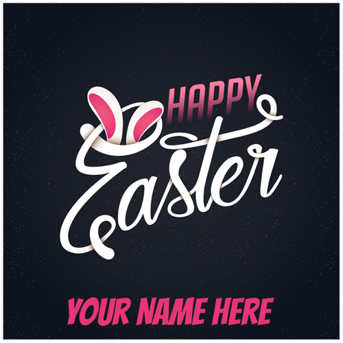 Happy Easter Day Designer Whatsapp Greeting With Name
