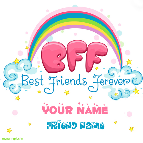 Write your name on Best friends forever profile picture