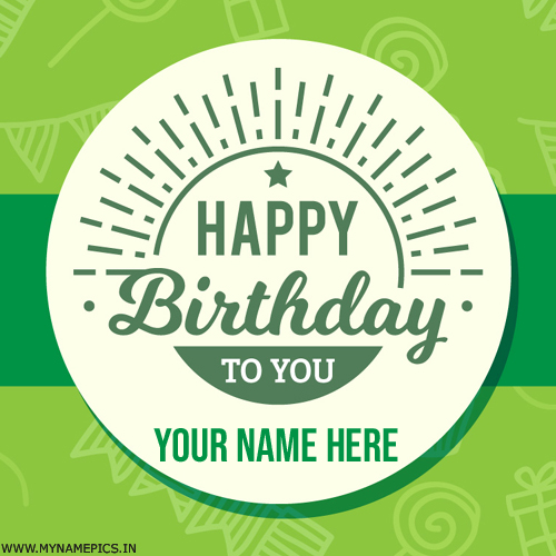 Write Name on Simple Birthday Card For Whatsapp Status