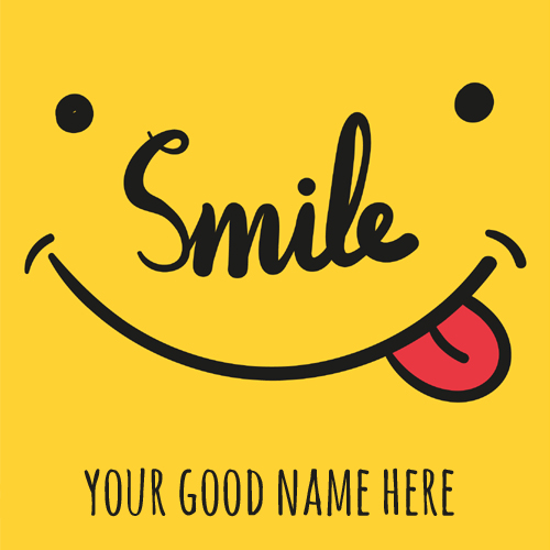 Always Smile Whatsapp Status Greeting Card With Name