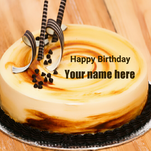 Happy Birthday Buttercream Mango Cake With Your Name