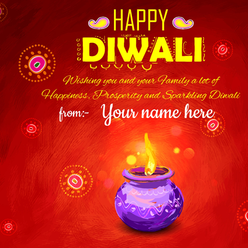Have a Sparkling Diwali Festival Greeting With Name