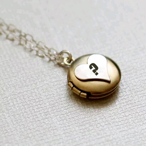 Vintage Initial Monogram Locket With Custom Alphabet