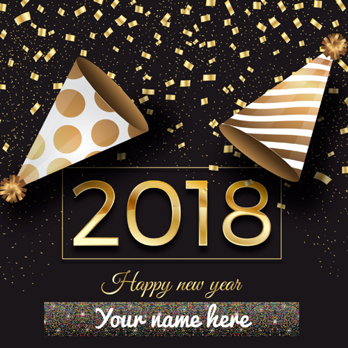 Welcome 2018 New Year Whatsapp Greeting Card With Name