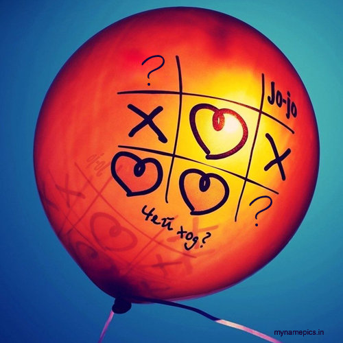write name alphabet on balloon love profile pics