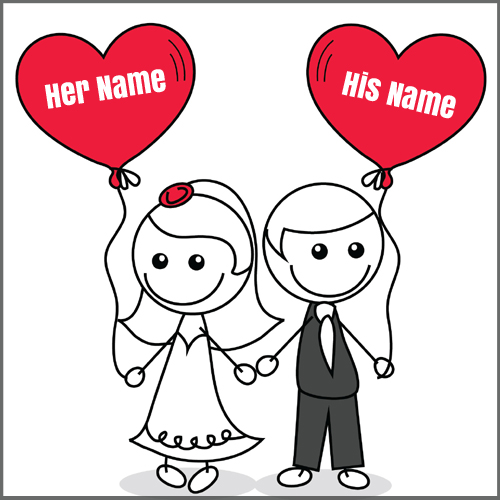 Beautiful Couple Made For Eachother Greeting With Name