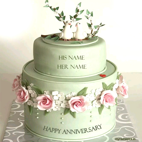 Write Name On Anniversary Cake Images : Write name on New wedding anniversary cake profile pic
