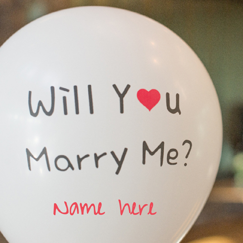 Will You Merry Me Love Propose Greeting Card With Name