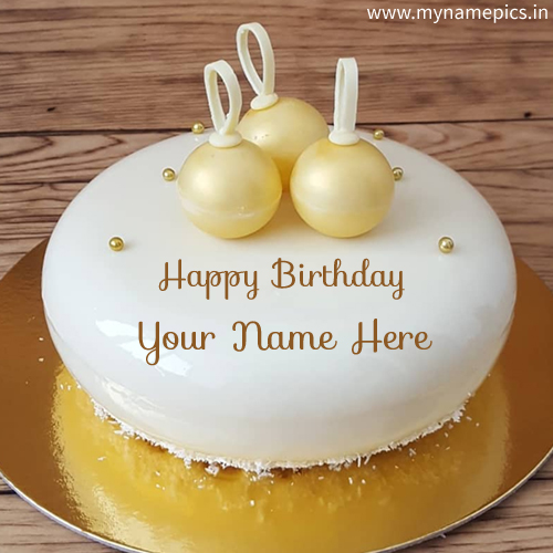 Caramelized White Chocolate Birthday Cake With Name