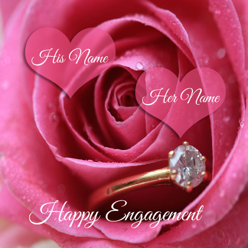 Write name on happy engagement wish profile pics m4hsunfo