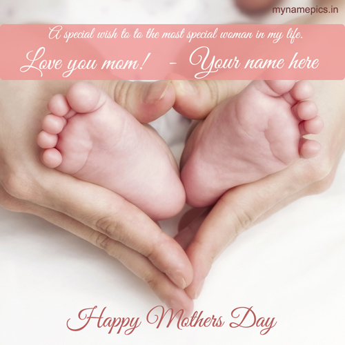 Write name on mothers day greeting card online for free