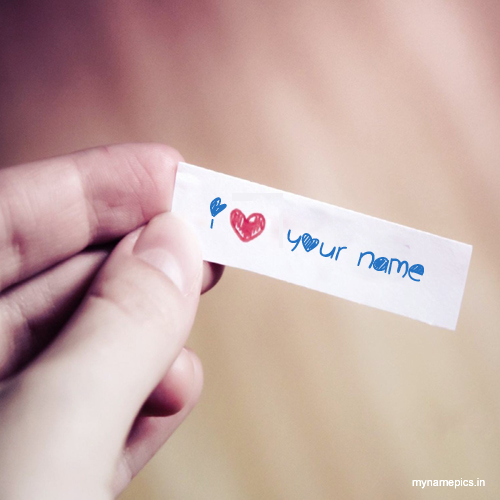 Write name on i love you profile pics online