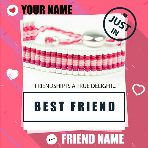 Friendship Day Special Designer Greeting With Your Name
