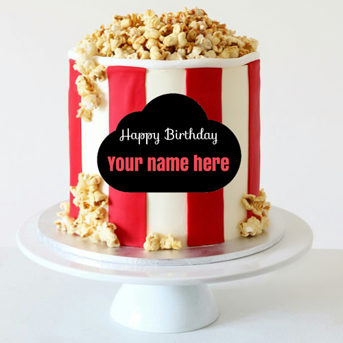 Birthday Wishes Special Popcorn Tub Cake With Your Name