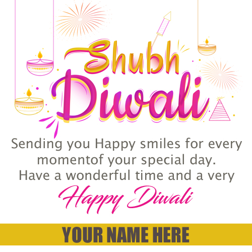 Shubh Diwali Wishes Quote Greeting With Your Name
