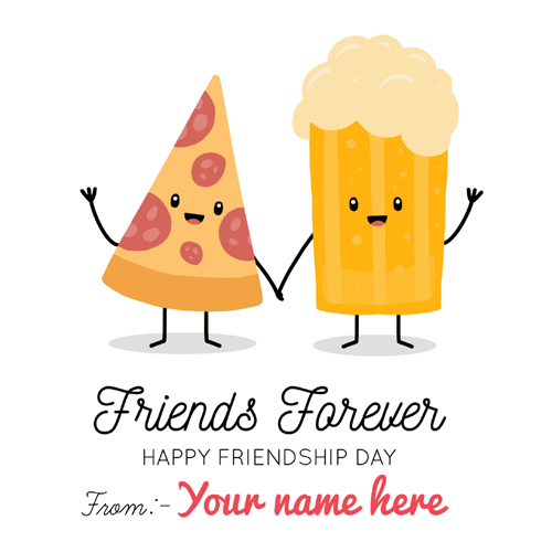Friends Forever Friendship Day Cute Greeting With Name