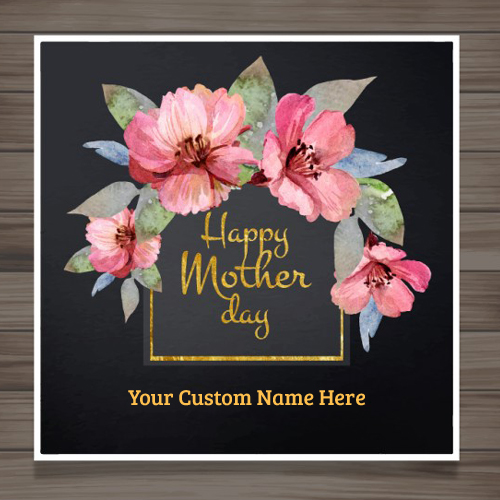 Elegant Mothers Day Picture With Pink Flowers and Name