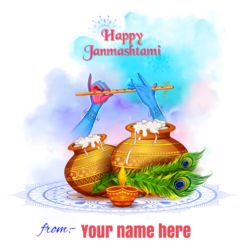 Happy Krishna Janmashtami Celebration DP Pics With Name
