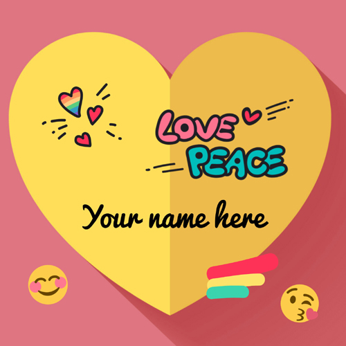 Beautiful and Romantic Heart Greeting With Lover Name