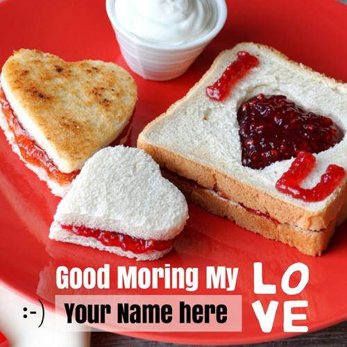 Good Morning My Love Romantic Greeting With Your Name