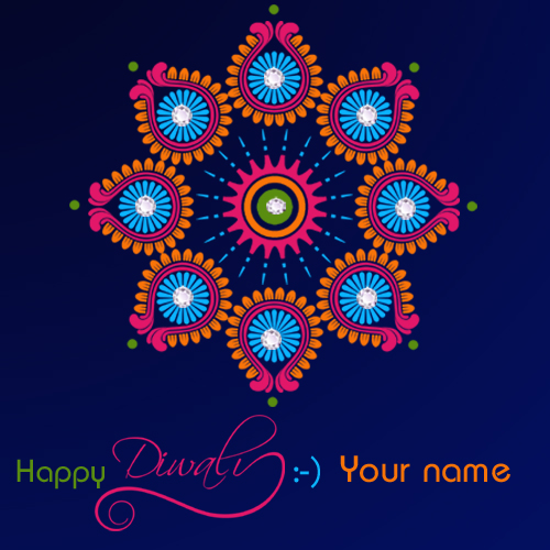 Write your name on Diwali Greeting Card profile pic